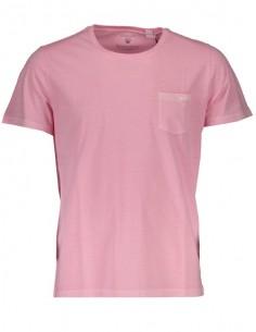 Gant - camiseta bolsillo hombre rosa desteñido