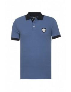Polo EA7 de Armani cuello contraste - blue