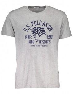 Camiseta US Polo Assn - embroyed grey