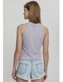 Urban Classics - top corto cuello alto - gris