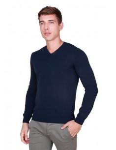 Trussardi jersey cuello pico premium - navy