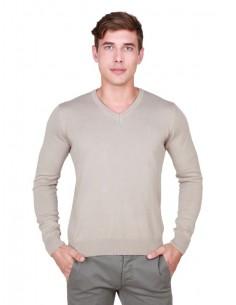 Trussardi jersey cuello pico premium - linen