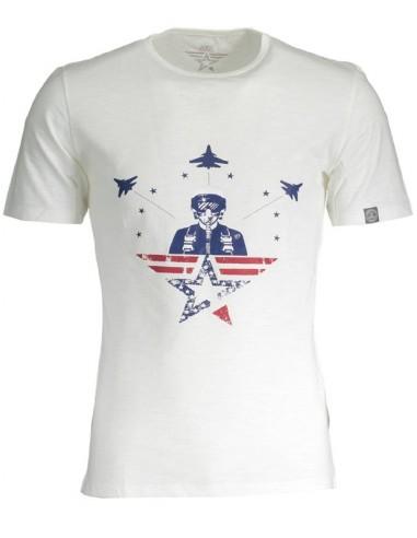 Camiseta Avirex maxilogo para hombre - blanca