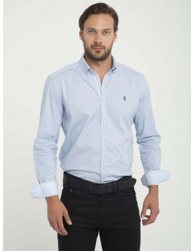 Camisa Sir Raymond Tailor fantasia - light blue