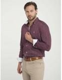Camisa Sir Raymond Tailor fantasia - burdeos