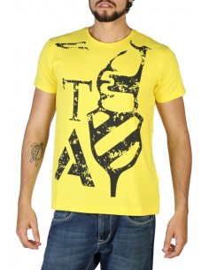 Camiseta Trussardi maxilogo yellow