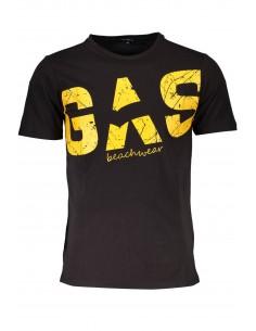 Camiseta GAS maxilogo para hombre - black