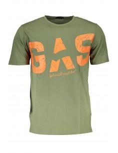 Camiseta GAS maxilogo para hombre - army green