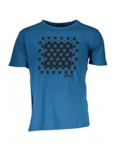 Camiseta GAS maxilogo para hombre - stars blue