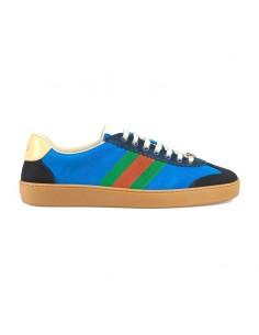 Zapatillas GUCCI en nylon y ante - azul