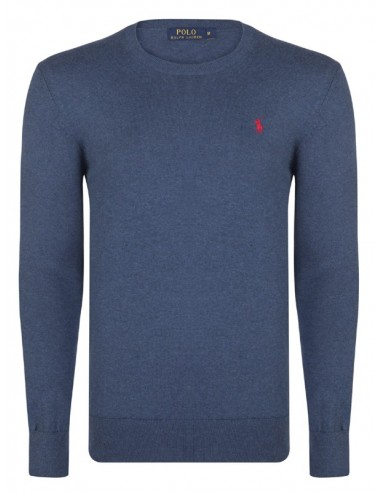 Jersey polo small pony cuello redondo - indigo/red