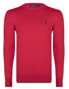 Jersey polo small pony cuello redondo - red/blue