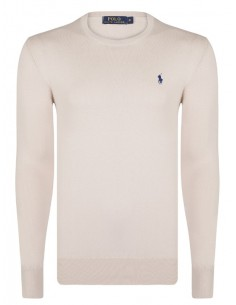 Jersey polo small pony cuello redondo - crudo/navy