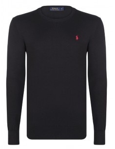 Jersey polo small pony cuello redondo - black/red