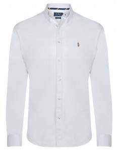 Camisa oxford Polo de hombre custom fit - blanca