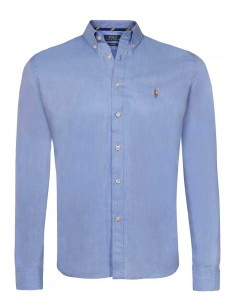 Camisa oxford Polo de hombre custom fit - blue