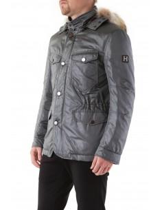 Husky - Abrigo con capucha en gris