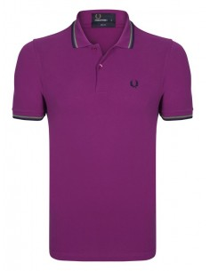 Polo básico hombre Fred Perry slim fit - Purple
