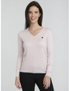 Jersey Sir Raymond Tailor cuello pico - light pink