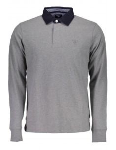 Polo Gant rugby - gris solido