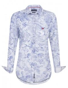 Camisa Sir Raymond Tailor - Estampada azul