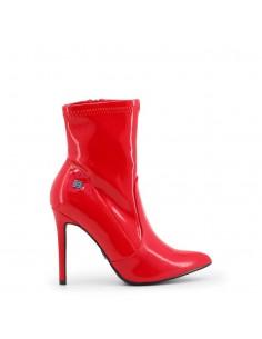 Botines Laura Biagiotti rojos con tacón