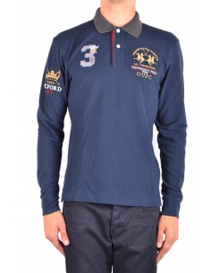 La Martina jersey polo oxford - navy