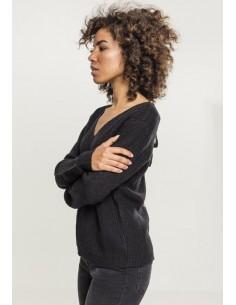 Urban Classics - Jersey cuello pico lazos
