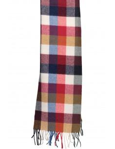 Gant - bufanda de lana para hombre en tonos rojos y azules