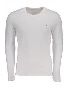 Camiseta Guess para hombre manga larga - blanca