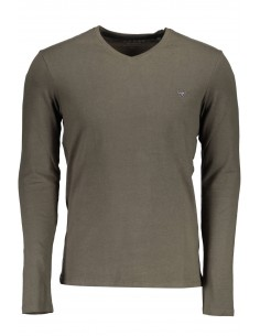 Camiseta Guess para hombre manga larga - verde militar