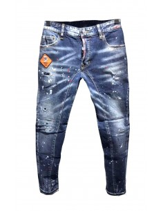 Dsquared jeans biker skull - blue