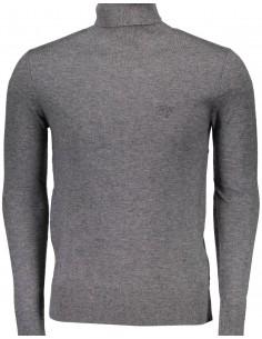 Jersey Guess para hombre cuello alto - gris