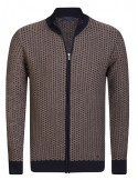 Cardigan Sir Raymond tricot - brown and navy