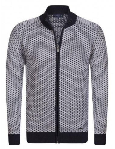 Cardigan Sir Raymond tricot - white and navy