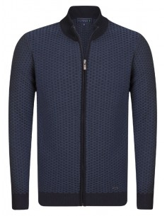 Cardigan Sir Raymond tricot - navy and indigo