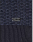 Cardigan Sir Raymond tricot - navy and indigo