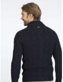 Cardigan Sir Raymond tricot - navy