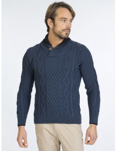 Sir Raymond Tailor jersey cuello smoking - indigo