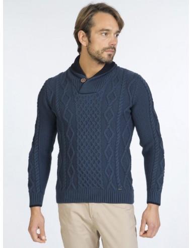 Sir Raymond Tailor jersey cuello smoking - indigo