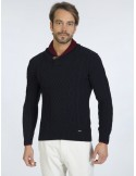 Sir Raymond Tailor jersey cuello smoking - navy