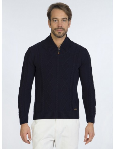 Sir Raymond Tailor jersey half zip - navy