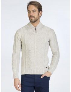 Sir Raymond Tailor jersey half zip - beige