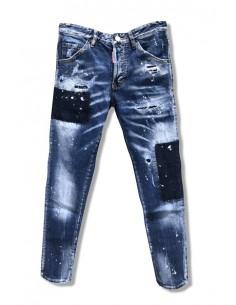 Dsquared jeans cool guy - azul con remiendos