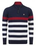 Sir Raymond Tailor jersey half zip - navy red