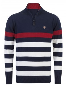 Sir Raymond Tailor jersey half zip - navy red