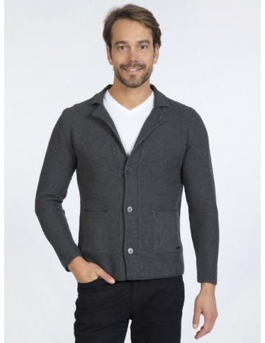 Cardigan Sir Raymond tricot - grey
