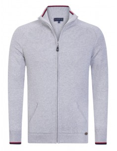 Cardigan Sir Raymond tricot - grey