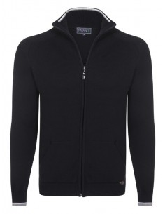 Cardigan Sir Raymond tricot - black