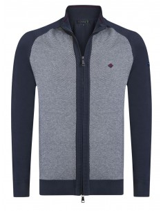 Cardigan Sir Raymond tricot - navy grey